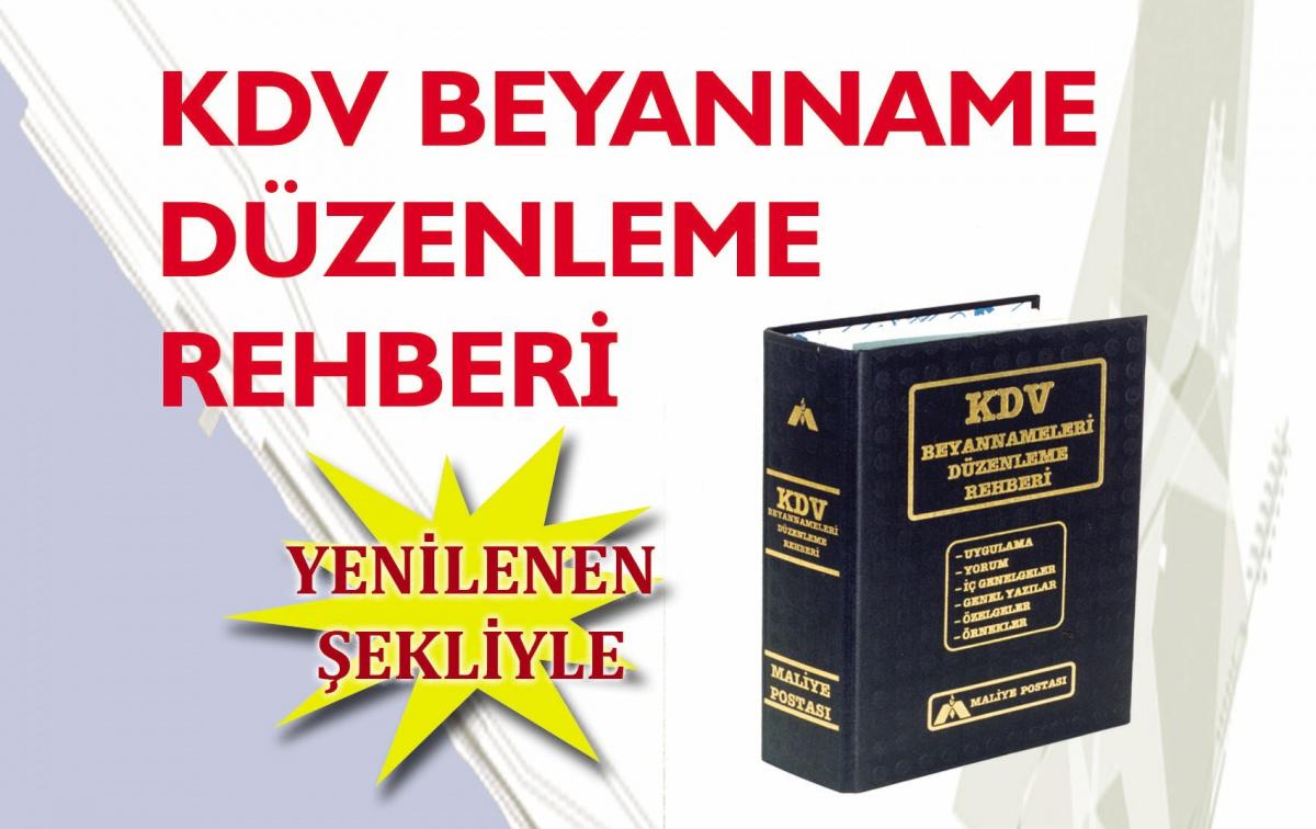 K.D.V. BEYANNAME DÜZENLEME REHBERİ YENİLENDİ